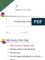 Nhập môn cơ sở dữ liệu - Nguyễn Giang Sơn