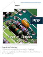 Heat vs Current in a Resistor