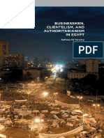Businessmen, Clientelism, and Authoritarianism in Egypt Safinaz