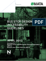 Bus Stop Design and Accessbility Guidelines - April 2017