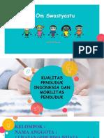 Kualitas Penduduk Indonesia Dan Mobilitas Penduduk
