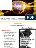 Final Ppt_critical Thinking