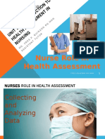 Session 1 -Nurses Role in Health Assessment