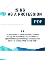 REPORT - Nursing as a Profession