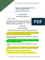 D Leg 1149 Ley de La Carrera y Situacion Del Personal Pnp