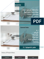 Acute pancreatitis case presentation