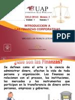 Sem 1 Las Finanzas y El Sistema Financiero Peruano