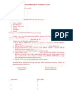 Surat Perjanjian Pinjaman Uang