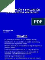 Curso Cip -2007- Segunda Parte - Formulacion y Evaluacion de Proyectos Mineros