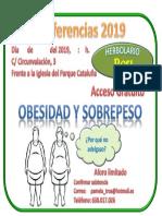 Anuncio Conferencia Obesidad Herbolario Rosi Torrejón