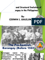 Historical Evolution of Barangay