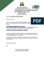 Formato Credencial Intae Sur 2018