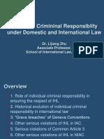 Zhu Lijiang-Individual Criminal Responsibility