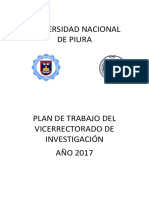 Plan de Trabajo 2017 Del VRI-UNP