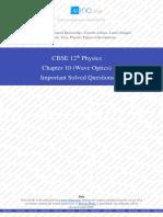 Chapter 10 (Wave Optics) Solved