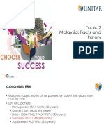 Topic 2 Malaysia Facts and History