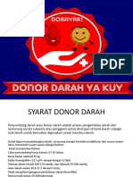 Presentasi Donor Darah Arisan