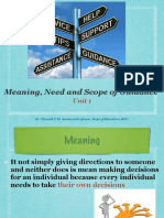 Meaning, Need and Scope of Guidance PPT