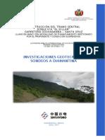 Informe Investigaciones Geotecnicas Con Perforaciones a Diamantina
