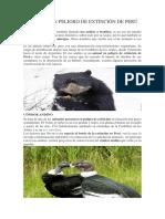 Animales en Peligro de Extinción de Perú