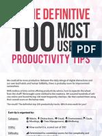Definitive 100 Most Useful Productivity Hacks