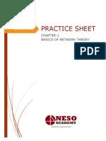 Practice Sheet - Network Theory Basics