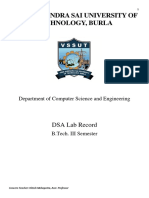 Data Structure Lab Record _ VSSUT, Burla