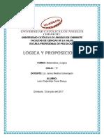 Lògica y Proposiciones
