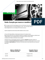 Furação de Rodas Por Marca e Modelo de Carro