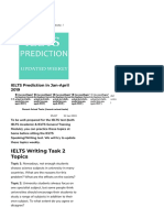IELTS Prediction in Jan April 2019