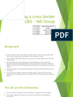 Valuing a Cross Border LBO – Yell Group