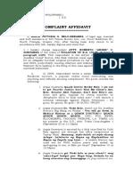 Complaint Affidavit Argee Guevarra Case