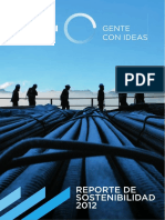 Reporte de Sostenibilidad Cosapi 2012