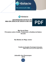 Fichamento - Big Social Data - Princípios Sobre Coleta Tratamento e Análise de Dados Sociais