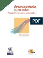 Transformacion productiva en los ultimos 30 años CEPAL