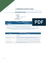 Perfil Competencia Agente de Viajes