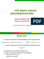 DFT With Plane Waves, Pseudopotentials