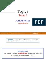 Topic 1- Antiderivatives