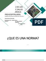Normativa de ambulancias y servicios de medicina pre hospitalaria mexicana