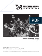 2013 - Annual Report - MISCELLANEOUS Productions