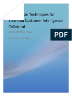 Exploration Techniques for Stranded Customer Intelligence Collateral