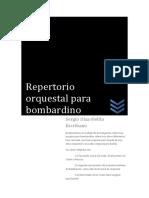 Trabajo de Repertorio Orquestal