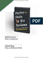 Kiz Tavlama Taktikleri - Kiz Tavlama Kitabı (Playboy Okulu)
