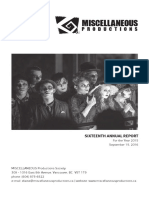 2015 - Annual Report - MISCELLANEOUS Productions