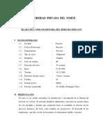 Sílabo Historia Del Derecho Peruano