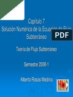 Ecuacion de Flujo en Diferencias Finitas