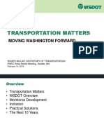 WSDOT State of Transportation Slides to 2019-02-14 PSRC Transportation Policy Board