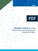 Guia de lineamientos para la aplicacion muestral - saber 5 y 9 2011.pdf