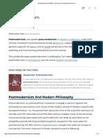 Postmodernism- Encyclopedia Britannica