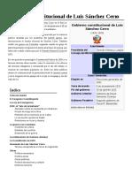 Gobierno Constitucional de Luis Sánchez Cerro